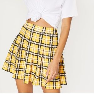 Pretty Little Thing Check Tennis Skirt EUC